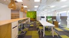 Modernt projektkontor i storformat